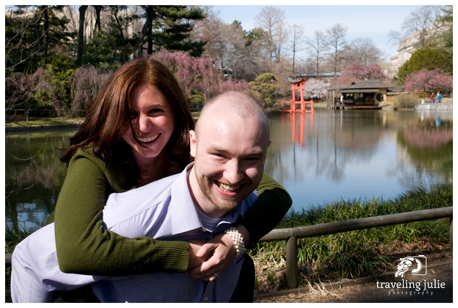 Brooklyn Botanic Garden Engagement Portraits