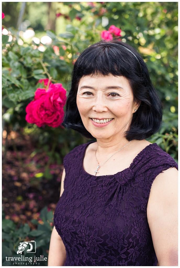 birthday portrait at the rose garden