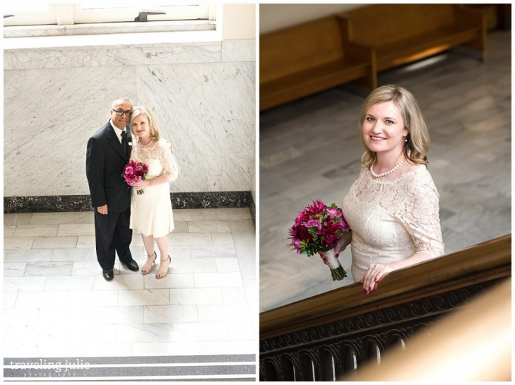 courthouse couple portrait